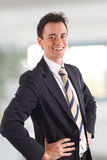 Young businessman smiling stock images