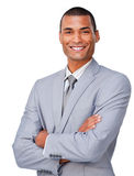 Young businessman smiling at the camera Stock Images