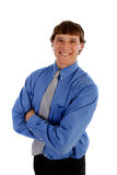 Young Businessman Smiling Isolated Royalty Free Stock Image