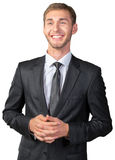 Young businessman smiling Royalty Free Stock Photos