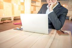 Young businessman solve problems about his work Royalty Free Stock Photos