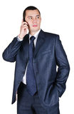 Young businessman speaking by phone Stock Image