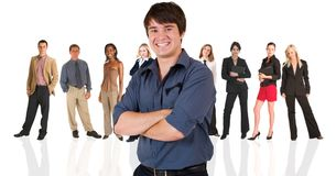 Young businessman standing in Royalty Free Stock Photography