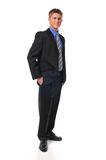 Young businessman standing with confidence stock images