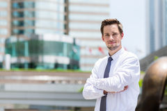 Young businessman standing Royalty Free Stock Images