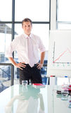 Young businessman standing in a presentation Stock Images