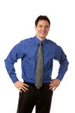Young Businessman Standing Smiling Isolated Stock Image