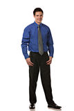 Young Businessman Standing Smiling Isolated Stock Photography