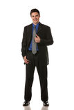 Young Businessman Standing Smiling Isolated Stock Photos