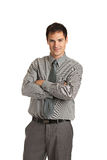 Young Businessman Standing Smiling Isolated Stock Photo