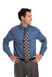 Young Businessman Standing Smiling Isolated Royalty Free Stock Image