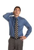Young Businessman Standing Thoughtful Gesture Isolated Royalty Free Stock Photo