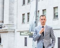 Young Businessman Street Fashion in New York City royalty free stock photography