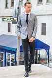 Young Businessman Street Fashion in New York City royalty free stock photo