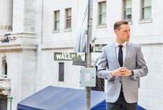 Young Businessman Street Fashion in New York City royalty free stock image