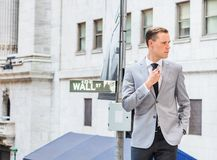 Young Businessman Street Fashion in New York City stock images