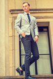 Young Businessman Street Fashion in New York City royalty free stock images