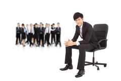 Young businessman with successful business team Stock Photo
