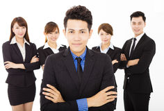 Young businessman with successful business team. Young asian businessman with successful business team Royalty Free Stock Image
