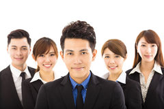 Young businessman with successful business team Stock Photos