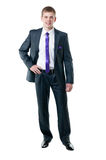 The young businessman in a suit Royalty Free Stock Photo