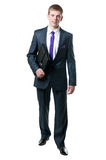 The young businessman in a suit Stock Image