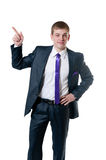 The young businessman in a suit Royalty Free Stock Image