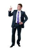 The young businessman in a suit Royalty Free Stock Photos
