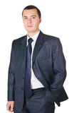 Young businessman in a suit Stock Images