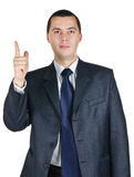 Young businessman in a suit Royalty Free Stock Images