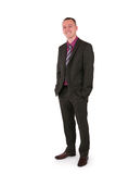 Young businessman in a suit with a big smile Royalty Free Stock Photo
