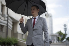 Young businessman in suit royalty free stock images