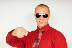 Young businessman in sunglasses Royalty Free Stock Photography