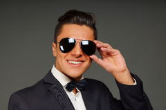 Young businessman in sunglasses royalty free stock photo
