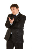 Young businessman with surprised face isolated Royalty Free Stock Photos