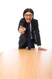 The young businessman swearing Stock Photo