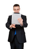 Young businessman with a Tablet PC Stock Photo