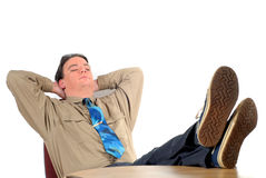 Young businessman taking a break Stock Photos