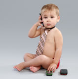 Young businessman talk on cell phone Stock Photo