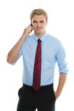 Young businessman talking Stock Image