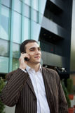 Young Businessman Talking. On the Phone Royalty Free Stock Image