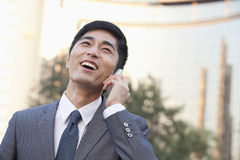 Young Businessman Talking on Cell phone Royalty Free Stock Images