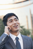 Young Businessman Talking on Cell phone Stock Image