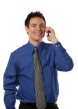 Young Businessman Talking over Cell Phone Royalty Free Stock Photo