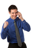 Young Businessman Talking over Cell Phone Royalty Free Stock Photos