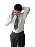 Young Businessman talking on the phone Stock Images