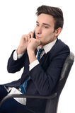 Young businessman talking on the phone. Royalty Free Stock Photos