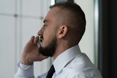 Young Businessman Talking On The Phone Royalty Free Stock Image