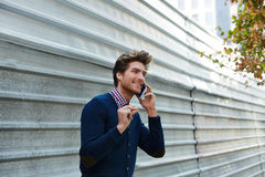 Young businessman talking smartphone phone Stock Photography