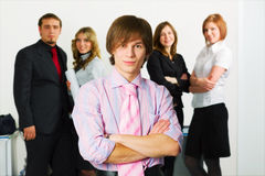 Young businessman team. Royalty Free Stock Images